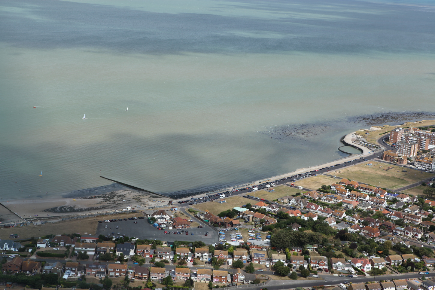 Aerial photo of Minnis Bay 2016